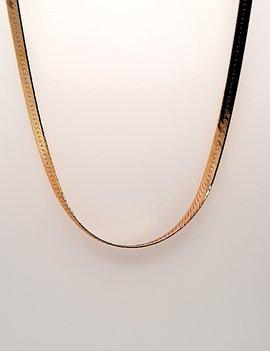 Medium Herring Bone Necklace 14kt Yellow Gold 7.3 g