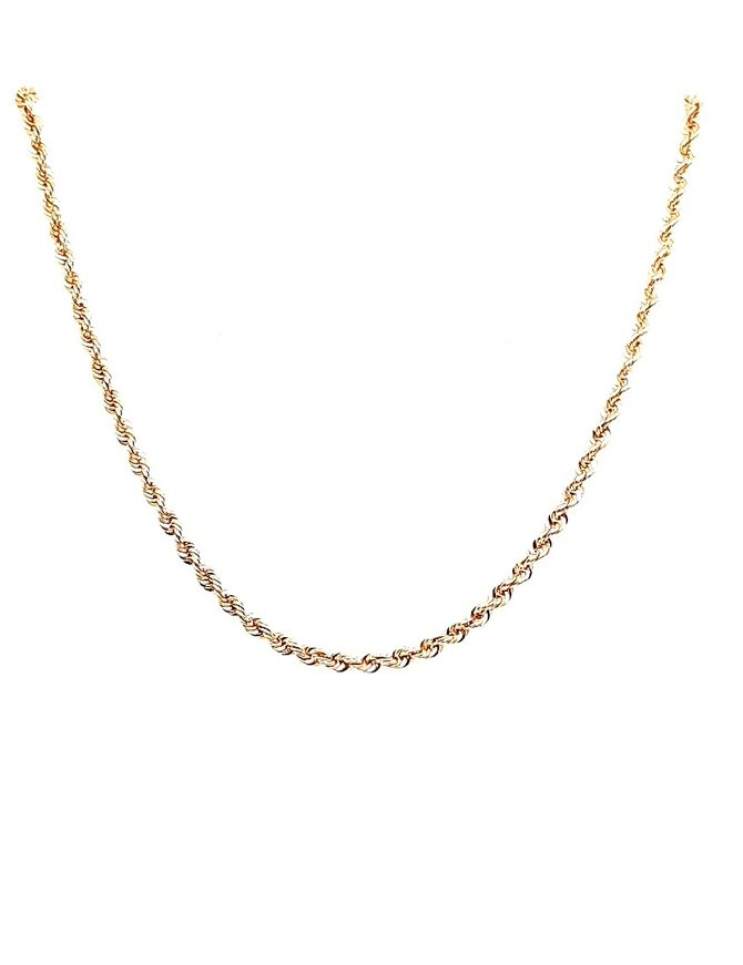 Rope Chain 14 Kt Yellow Gold 5.3g