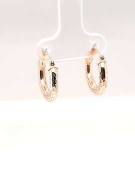 Small Hoops 14 kt Yellow Gold .90g