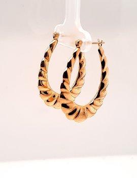 Hoop Earrings Yellow Gold 14 kt 2.7g
