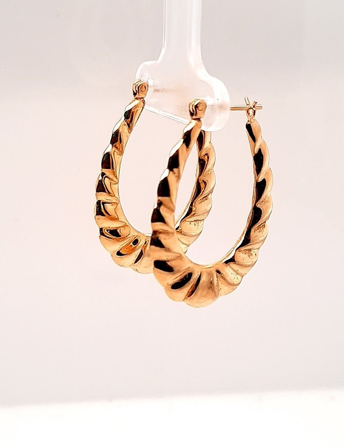 Hoop Earrings Yellow Gold 14 kt 2.7g