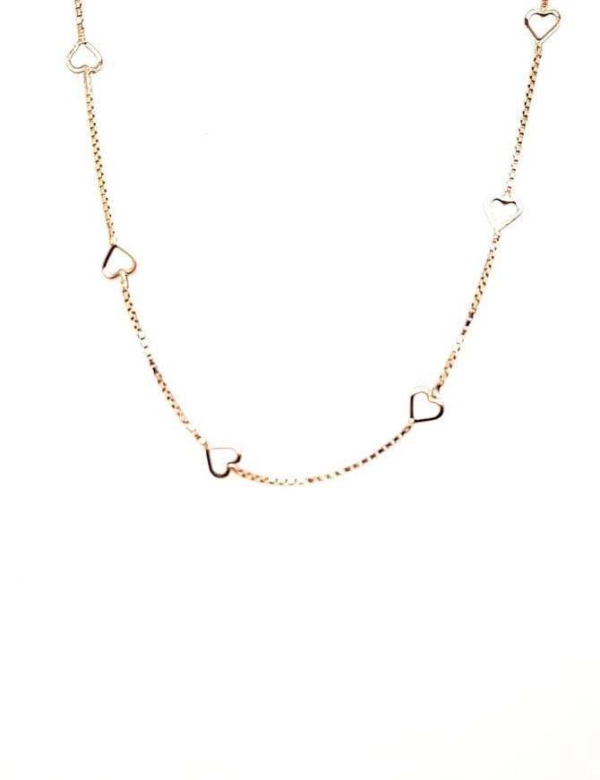 Hearts Necklace 14 kt Yellow Gold 2.4g