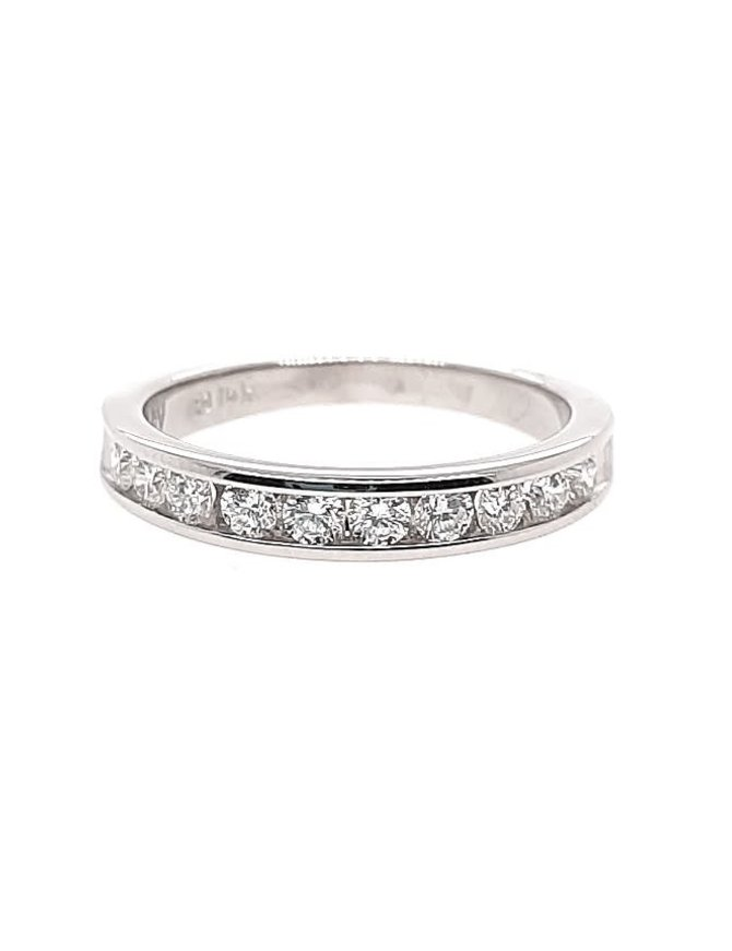 Diamond (0.50 ctw) channel set band, 14k white gold