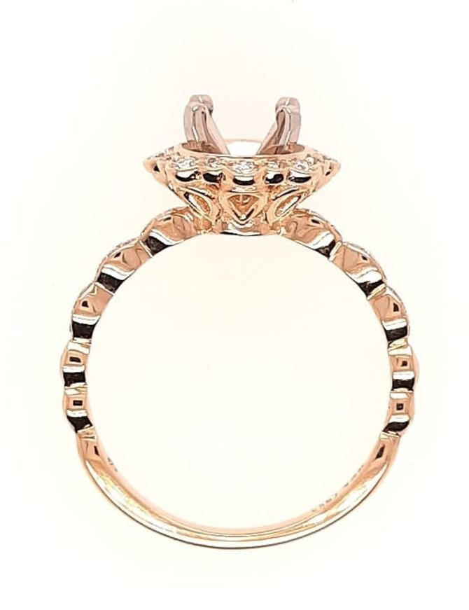 Diamond (0.25 ctw) sculpted halo setting, 14k yellow gold, center stone not included
