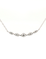 Diamond (0.38 ctw) marquise look necklace, 14k white gold