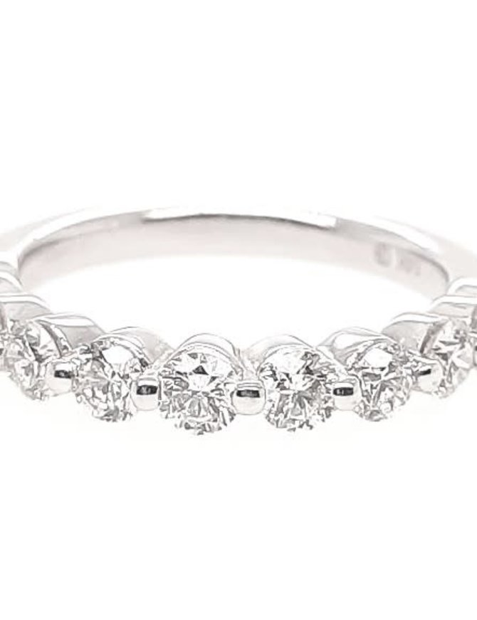 Diamond (1.00 ctw) bead prong band, 14k white gold