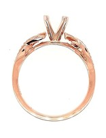 Diamond (0.09 ctw) sculpted setting, 14k rose gold, center stone not included