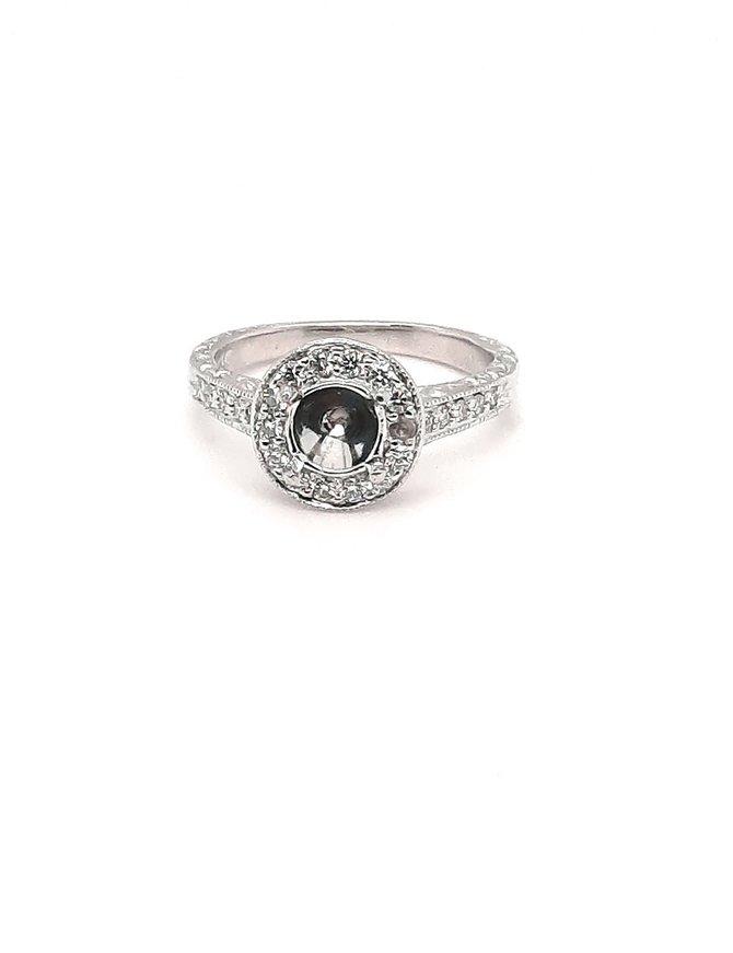 Ring Scott Key Halo Platinum (.50 TW)