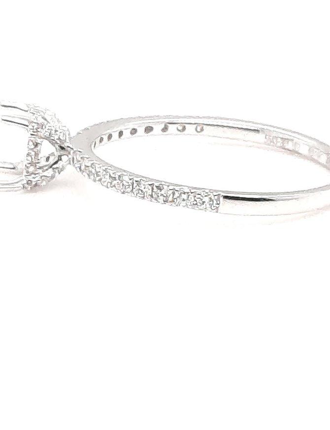 Diamond (0.27 ctw) classic setting, 14 kt white gold