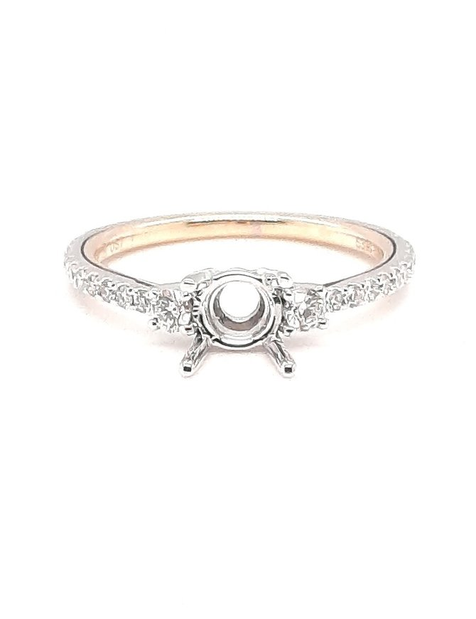 Diamond (0.37 ctw) setting, platinum