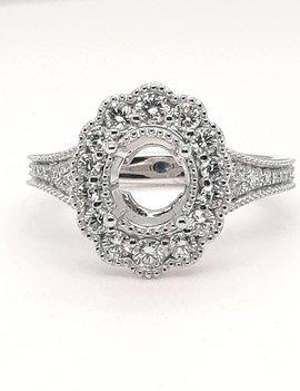 Diamond (0.64 ctw) setting, platinum