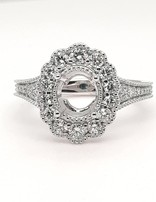 Diamond (0.64 ctw) setting, platinum