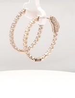 Diamond (1.50 ctw) hoop earrings, 14 kt white gold