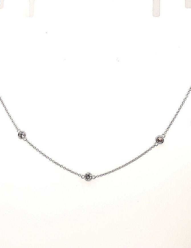 Diamond (1.0 ctw) add a diamond necklace, white gold