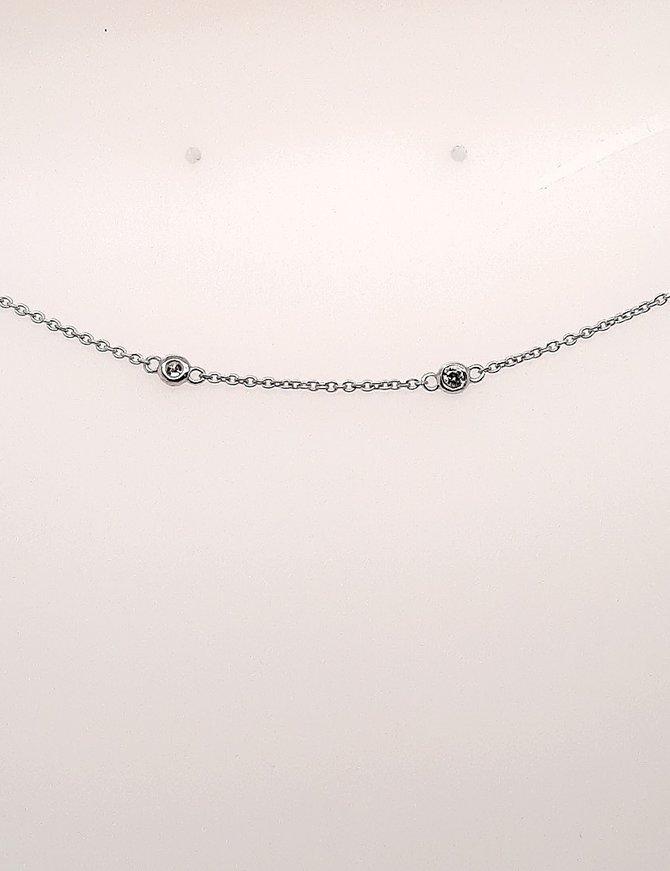 Diamond (0.50 ctw) add-a-diamond necklace, 14k white gold