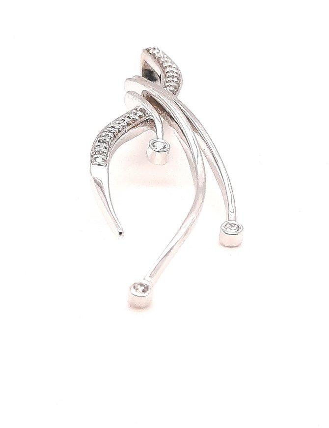 "TQ Original diamond (0.19 ctw) ""Journey"" pendant, 14k white gold"