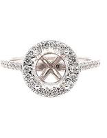 Diamond (0.33 ctw) halo setting, 18k white gold