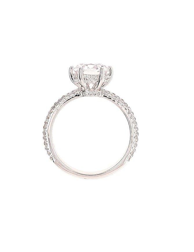 Diamond (0.48 ctw) setting, 18k white gold, cz center