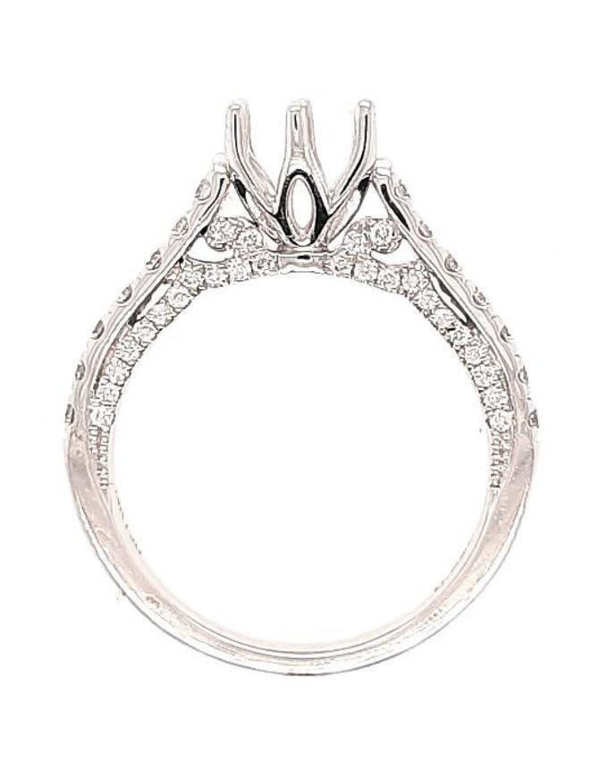 Diamond (0.53 ctw) tulip-head setting, 14k white gold, center stone sold separately