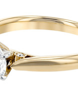 Solitaire diamond (0.04 ctw) setting, 14k yellow gold, cz center, center stone not included