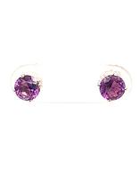 Amethyst (1.00ctw) stud earrings, sterling silver