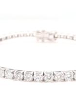 Diamond (7.00 ctw) tennis bracelet, 14k white gold