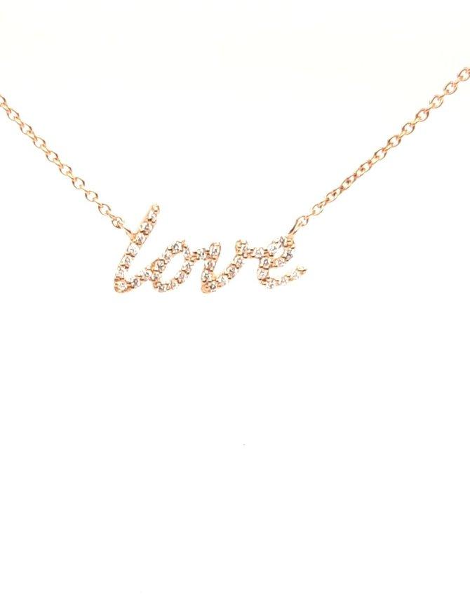 Diamond (0.13 ctw) Love Pendant 14 kt yellow gold
