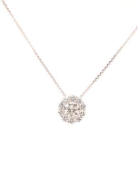 Diamond (0.68) pendant, 14 kt white gold