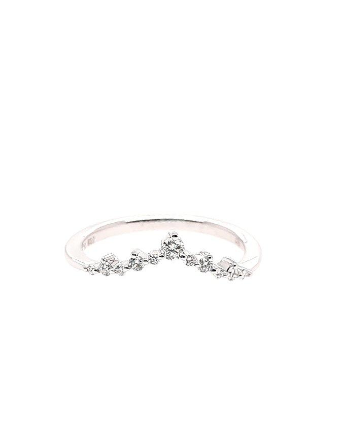 Diamond (0.15 ctw) tiara look band, 14k white gold