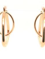 Double Hoop Earrings 14kt 5.7g