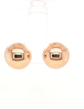 1/2 Ball Earrings 12mm Yellow Gold 1.4g