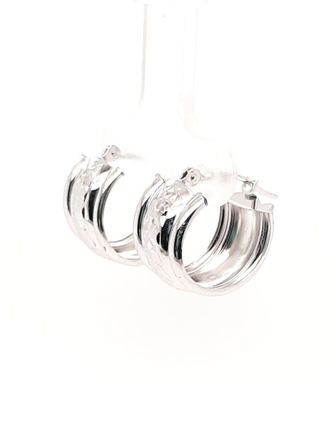 Small Hoops White Gold 1.5g