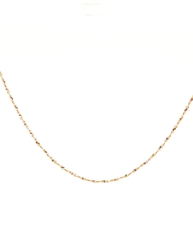Twisted Serpentine Chain Yellow Gold 1.7g
