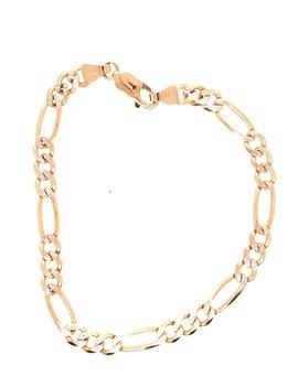 Figaro Bracelet 14kt Yellow Gold 6.1g