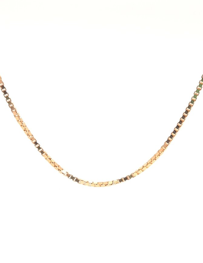 Box Chain Necklace Yellow Gold 5.3g