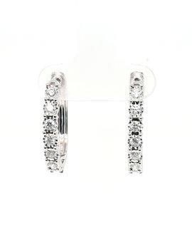 Diamond (0.50ctw) hoop earrings, 14k white gold