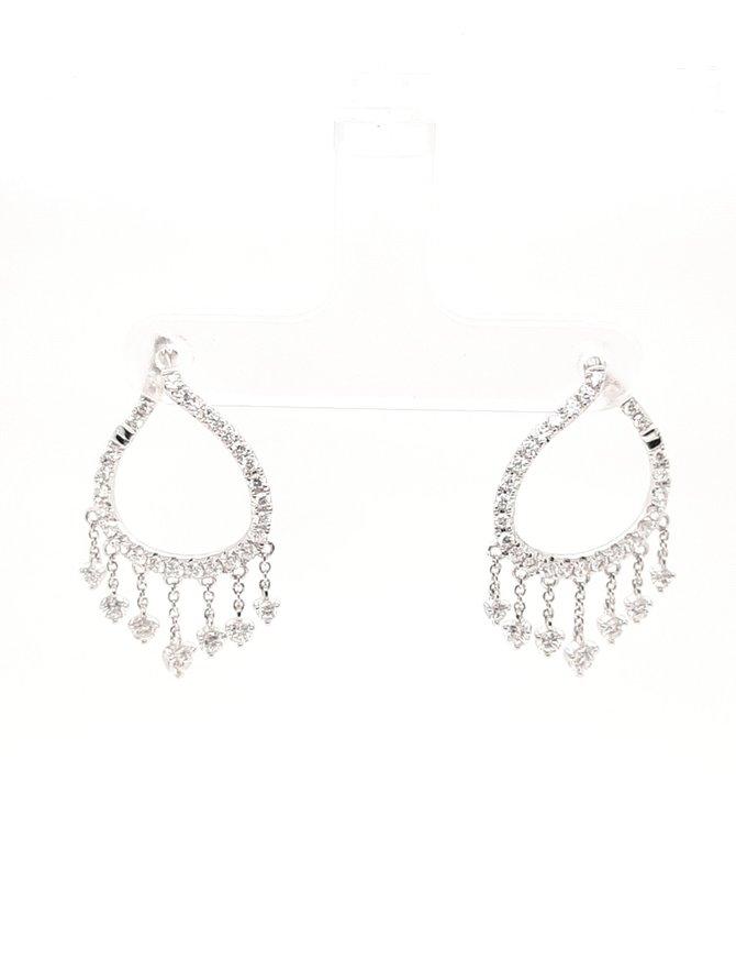Diamond (1.31 ctw) earrings, 14 kt white gold