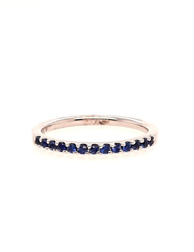Sapphire (0.29 ctw) stackable band, 14k white gold
