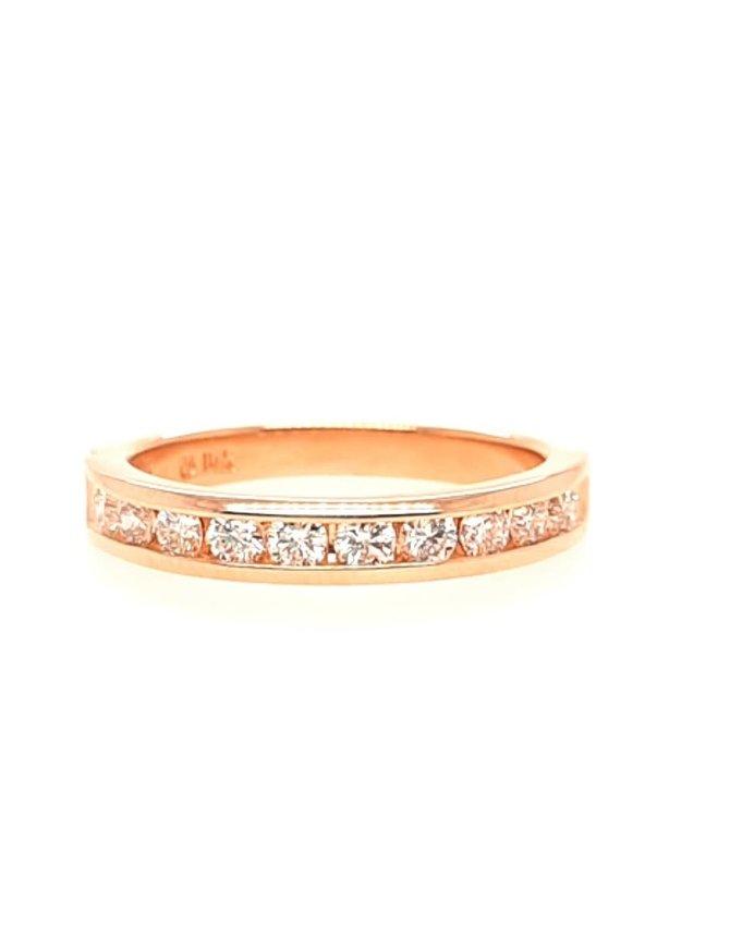 Diamond channel set band 14k yellow gold 0.50 ctw