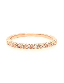 Diamond (0.12ctw) band, 14k yellow gold