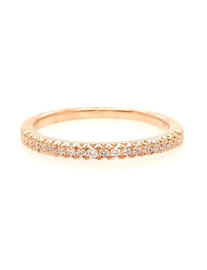Diamond(0.12ctw) band ring, 14k yellow gold