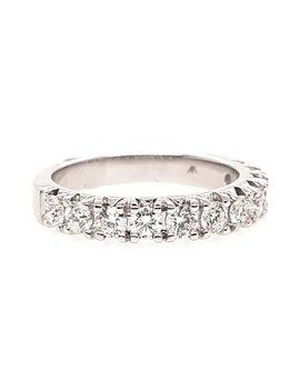 Diamond prong set wedding band, 14k