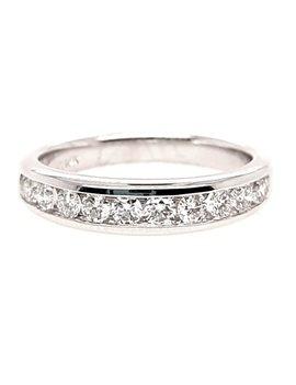 Diamond (0.50ctw) 10 stone channel set band, 14k white gold