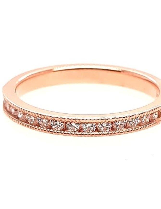 Diamond (0.25 ctw) beaded band, 14k