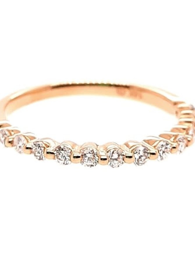Diamond (0.33 ctw) bead prong band, 14k yellow gold