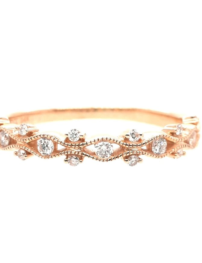 Diamond (0.20 ctw) stackable band, 14k yellow gold