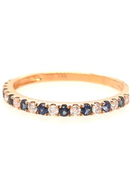 Sapphire (0.20 ctw) & diamond (0.14 ctw) ring, 14k yellow gold