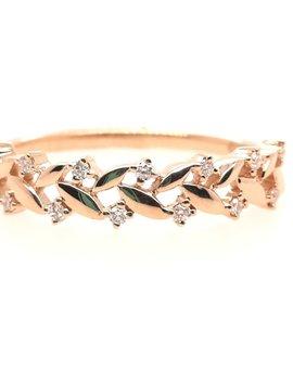 Diamond (0.08ctw)fashion band ring, 14k yellow gold