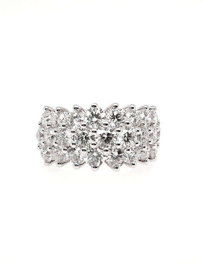 25/Diamond (4.00 ctw) band, 14k white gold