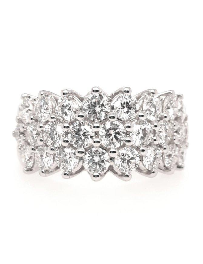 25/Diamond (3.00 ctw) band, 14k white gold